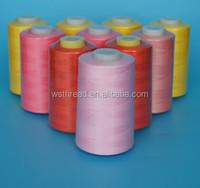 100% virgin close virgin polyester ring spun yarn