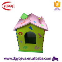 DIY Beautiful EVA foam 3D puzzle Prefab house for kids