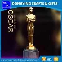 China Factory Wholesale Metal Replica Oscar Trophy Awards
