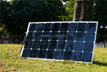 China manufacturer flexible solar panel 100W with sunpower monocrystalline silicone solar cells