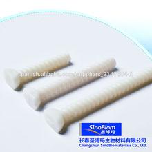 material de PLA biodegradable clavo ortopédico