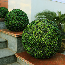 artificial boxwood ball hedge decorative vertical garden edging