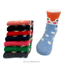 carino bambini faccia con bella punti caldo calze di lana ingrosso hot bambini calzettoni
