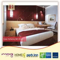 New Trendy Macchiato Hotel Bedroom Set Mebel Furniture Modern