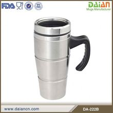 Stainless Steel golden cup mug with handle