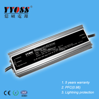 PFC0.98 200W 12V~48V waterproof constant voltage dimmable led driver