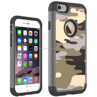 New products 2015 innovation product Mobile phone protector camouflage case 2 in1 slim armor case for iphone 6 factory price