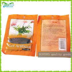 Black crystal soil in orange bag,orange bag crystal bag,Crystal soil