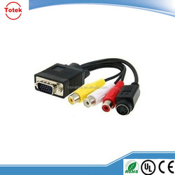Factory Price 3m Male to Male VGA to 3 RCA to VGA Cable