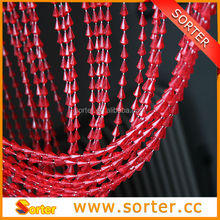 iridescent round shaped beaded curtain for room divider