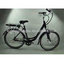 lithium battery powered battery green city bike