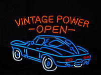 Car Neon Light Sign Real Glass 17X14 Fast Shipping