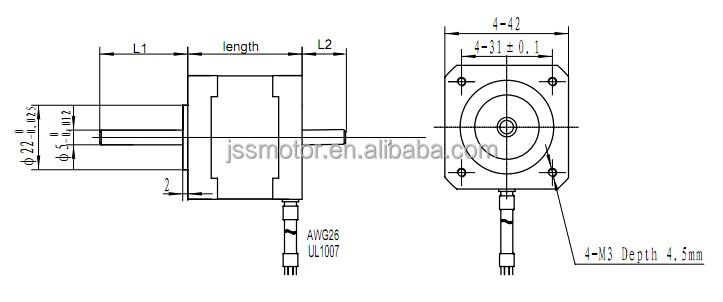 20mm stepping motor 0 6a nema 17 lead screw stepper motor