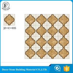 2017 most popular waterjet marble oval medallion with best price