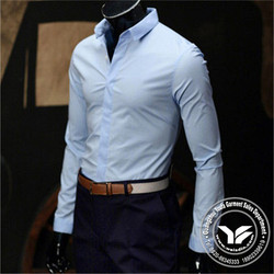 printed new style cotton/bamboo fiber polka dots white pure cotton shirts for men