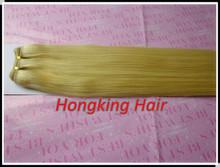 100% human hair extensions, blond color cheap hair weave brazilian human hair