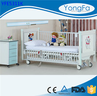 Team work Safety full siderail anti rust double crank folding children bed