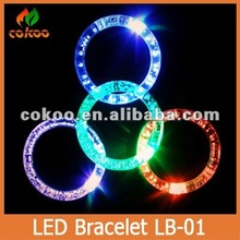 New design LED bracelet glow wristband luminous wristband flashing light wrist bestgifts Party Supplies