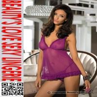 2015 Wholesale latest fashion hot sexy women new sexy transparent lace nighty design