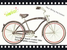 "2013 hot sale 26"" men beach cruiser bicycle/bike"