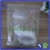 Cotton bud packaging plastic ziploc bag with zipper closure, zip lock plastic bag