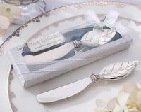 wedding gift and giveaways--New Butter knife arrival Chrome Leaf Spreader 100PCS/LOT wedding favor