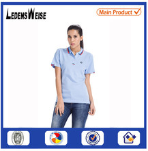Dry fit fancy 100% cotton breathable polo shirt