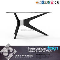 Modern black high gloss MDF coffee table With glass top
