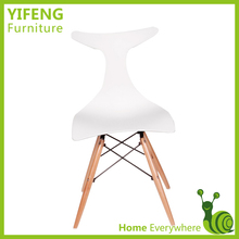 Beautiful Plastic Wood Legs dining Chairs