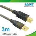 Impressão usb usb cabo de extensão 2.0 3m tipo
