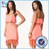 Yihao Trade Assurance 2015 Ladies Asymmetric Lace summer latest fashion dress