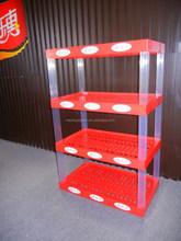 Factory price Plastic exhibition display shelf