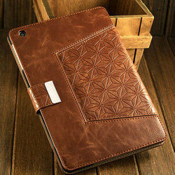 2015 New Arrival Wholesale OEM Price classical luxury leather smart cover for ipad mini