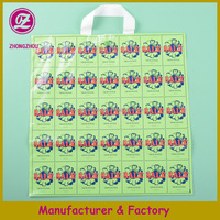 reuseable pe poly shopping bag with flower print manufacturing in china/colored poly gift promotion bag