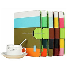 Elegant Bright Color PU Full Body Case Stand Case for iPad 2/3/4