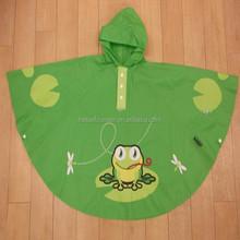 custom logo kids rain poncho/cute pvc rain poncho