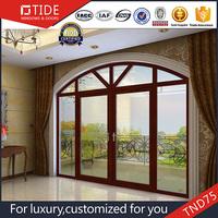 China Top Quality Casement Open Wood and Aluminum Hinge Door