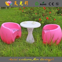 China manufacturer PE material plastic outdoor furniture kids table and chair set