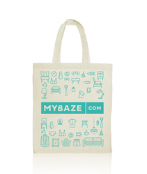 new fresh custom blue green color cotton fabric shopping tote bags