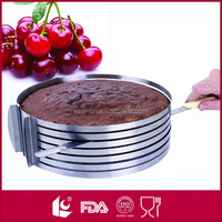 Adjustable stainless steel nice slicing baking cake mould / cake mold / cake ring
