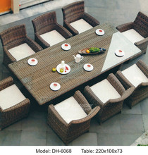 China Garden PE Wicker Furniture Round Rattan Dining Table outdoor Furniture (DH-6068)