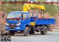 FORLAND truck dump truck with loading crane 3.2 tons) truck mounted crane / Call:86-15271357675