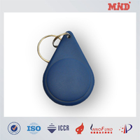 MDT035 13.25MHz ABS contactless key fob water drop shape key fob