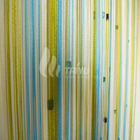 Beautiful cheap price fashion curtain design living room glass strings for doors