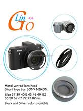 Metal Lens hood for SONY E PZ 16-50mm OSS LH-S1650 for NIKON 1 NIKKOR 10mm f/2.8 for SAMSUNG 20-50mm f/3.5-5.6 ED II Lens