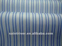 1519 Blue and White Yarn dyed stripe shirt fabric