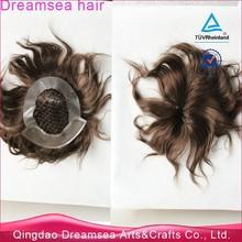 Brazilian virgin hair integration wigs with 100% remy human hair 5x7 men's toupee fishnet cap