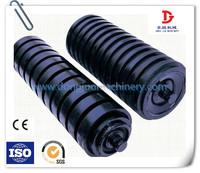 133mm diameter impact rubber coated conveyor rollers for material handling equipment