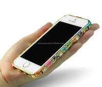 New Arrival Bling Crystal Diamond Bumper Metal Case For Iphone 5/For iphone5s diamond phone bumper case