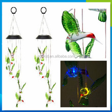 hot new products for 2014 hummingbird solar wind chime light